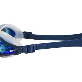 speedo Mariner Supreme Mirror Lunettes de protection, clear/navy/blue mirror